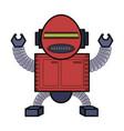 cartoon robot design vector image vector image
