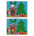 christmas game for children find differences vector image vector image