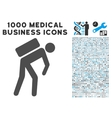 Courier Icon with 1000 Medical Business Symbols vector image vector image