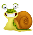 Cute snail cartoon vector image vector image
