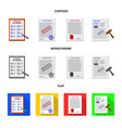 design of form and document symbol set of vector image vector image