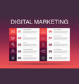 digital marketing infographic 10 option template vector image vector image