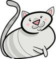 doodle cat vector image vector image