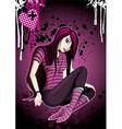 Emo Girl Cartoon vector image