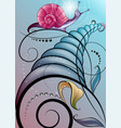 fantastic snail vector image vector image