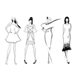 Fashion modelsSketch Set of women or vector image