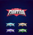 fight club emblem mixed martial arts sport logo vector image vector image