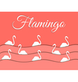 Flamingo and paper waves vector image vector image