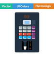 Flat design icon of Coffee selling machine vector image vector image