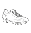 football boots sketch vector image