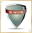 Full protection shield vector image vector image