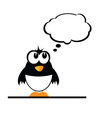 funny penguin color vector image vector image