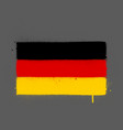 graffti germany flag sprayed over grey vector image