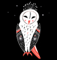 graphic owl vector image
