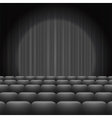 Grey Curtains with Spotlight and Seats vector image