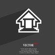 House icon symbol Flat modern web design with long vector image