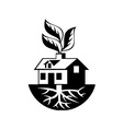 House With Roots and Leaves Sprout vector image vector image