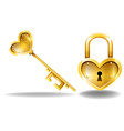 Key and Lock vector image vector image
