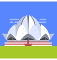 Lotus Temple In New Deli Famous Traditional vector image vector image