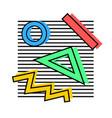 memphis elements 80s vector image vector image