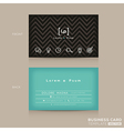 Modern Trendy Business card Design Template vector image vector image