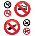 no smoking icons vector image vector image