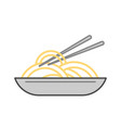 noodles wok isolated icon vector image