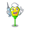 nurse lamp post in isolated on mascot vector image vector image