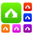 open tent set color collection vector image vector image