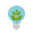 plant inside light bulb vector image vector image