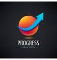 progress logo growth financial vector image