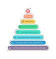 Pyramid for infographics Chart diagram with 8 vector image vector image