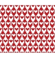 red seamless background pattern with hearts vector image vector image
