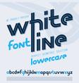 regular lower case english alphabet letters vector image vector image