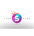 s dots letter logo with bubbles a letter design vector image