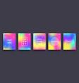 set blurred color gradient posters summer vector image
