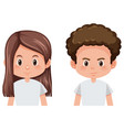 set of male and female hairstyle vector image vector image