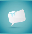speech bubble decorated with realistic snow and vector image vector image