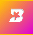 star inside b letter gradient web icon vector image vector image