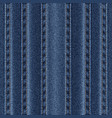 texture vertical seams on denim vector image