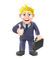 thumbs up businessman vector image vector image