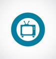 tv icon bold blue circle border vector image vector image