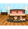 Two cute dogs vector image vector image