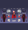 vampire party invitation halloween costumes vector image vector image
