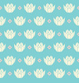 vintage water lilies in line with rhombs vector image vector image