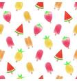 watercolor colorful tropical summer fruit sherbet vector image