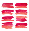 watercolor set of pink banners spots vector image