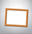 Wooden frame Stock vector image vector image