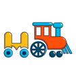 children ride train icon cartoon style vector image