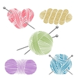 Hand drawn yarn for knitting vector image
